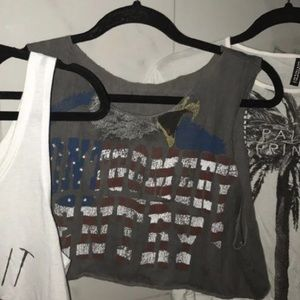 Urban Outfitters cropped muscle tee